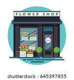 flower shop. facade of an...   Shutterstock .eps vector #645397855