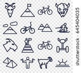 mountain icons set. set of 16... | Shutterstock .eps vector #645404035