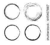 set of 4 isolated grunge frames ...   Shutterstock .eps vector #645407887