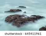 Long Exposure Of Waves And...