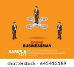 people isometric 3d  isometric... | Shutterstock .eps vector #645412189