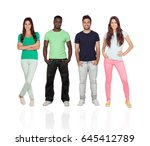 four different adult persons... | Shutterstock . vector #645412789
