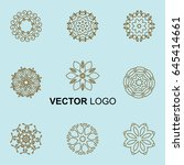 modern stylish organic logo...   Shutterstock .eps vector #645414661