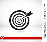 aim icon  vector best flat icon ... | Shutterstock .eps vector #645417079