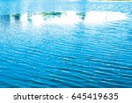 water texture with reflection... | Shutterstock . vector #645419635