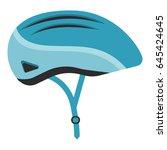 bicycle helmet isolated. vector ... | Shutterstock .eps vector #645424645