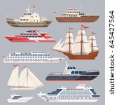 Flat Ships. Sea Shipping...