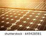 solar energy panel... | Shutterstock . vector #645428581