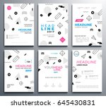presentation booklet covers  ... | Shutterstock .eps vector #645430831