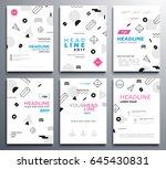 presentation booklet covers  ... | Shutterstock .eps vector #645430831