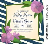 wedding invitation card suite... | Shutterstock .eps vector #645432079