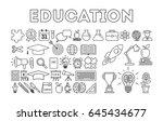 education icon set. | Shutterstock . vector #645434677