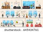 office interior set.   Shutterstock . vector #645434761