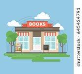 book store building. | Shutterstock . vector #645434791