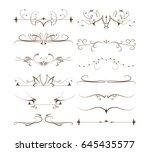 ornamental dividers set. | Shutterstock . vector #645435577