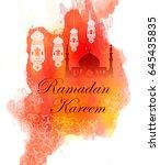 happy ramadan | Shutterstock .eps vector #645435835