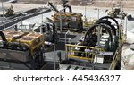 lithium mine processing plant... | Shutterstock . vector #645436327