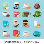 modern icons for tea shop and... | Shutterstock .eps vector #645440467