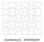 jigsaw puzzle blank 6x5... | Shutterstock .eps vector #645440659