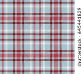blue gray and red tartan... | Shutterstock .eps vector #645441829