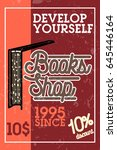color vintage books shop banner | Shutterstock .eps vector #645446164