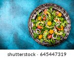 for healthy eating  salad with... | Shutterstock . vector #645447319