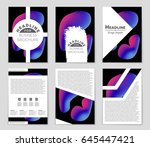 abstract vector layout... | Shutterstock .eps vector #645447421