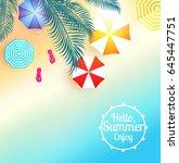 sea vacation. summer blur ... | Shutterstock .eps vector #645447751
