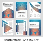abstract vector layout... | Shutterstock .eps vector #645452779