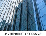 closeup of glass wall of modern ... | Shutterstock . vector #645453829
