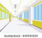 interior of school hall in flat ...   Shutterstock .eps vector #645454324