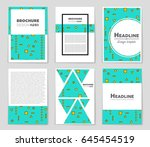 abstract vector layout... | Shutterstock .eps vector #645454519