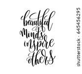 beautiful minds inspire others... | Shutterstock .eps vector #645456295