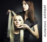 Woman In A Beauty Salon....