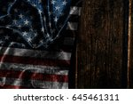 usa flag on a wood surface | Shutterstock . vector #645461311