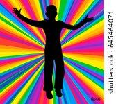 silhouette dancing human ...   Shutterstock .eps vector #645464071
