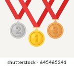 gold  silver  bronze medal for... | Shutterstock .eps vector #645465241