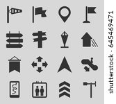 direction icons set. set of 16... | Shutterstock .eps vector #645469471
