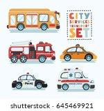 city emergency transport... | Shutterstock .eps vector #645469921