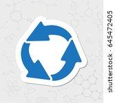 vector flat sticker  circle... | Shutterstock .eps vector #645472405
