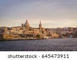Valletta Skyline At Sunset With ...