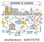 vector city infographic.... | Shutterstock .eps vector #645476755
