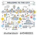 vector illustration of city... | Shutterstock .eps vector #645480001