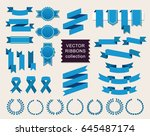 vector collection of decorative ... | Shutterstock .eps vector #645487174