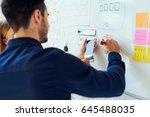 closeup of ux designers...   Shutterstock . vector #645488035