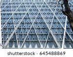 abstract architectural pattern... | Shutterstock . vector #645488869