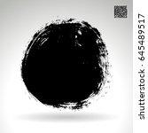 brush stroke and texture.... | Shutterstock .eps vector #645489517