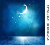 islamic greeting  eid mubarak... | Shutterstock . vector #645490189