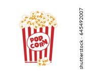 Popcorn Box Isolated On White....