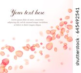 background with rose petals.... | Shutterstock .eps vector #645492541